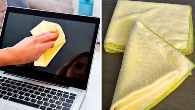 como limpiar la pantalla de un ordenador portatil